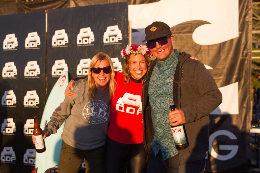 Queen of the Peak founder's Mike Jacobsen and Krissy Montgomery, celebrating last year's winner Hannah Scott